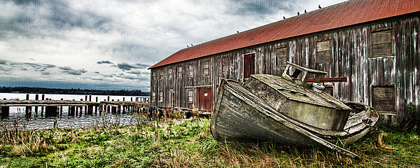 Pacific Coast Photograph -  Salmon Cannery by DMSprouse Art