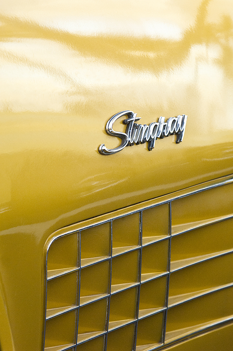 1972 Chevrolet Corvette Stingray Photograph - 1972 Chevrolet Corvette Stingray Emblem by Jill Reger