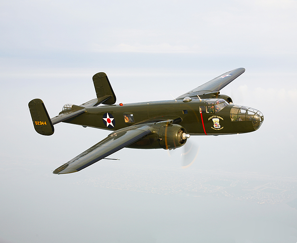 Transportation Photograph - A North American B-25 Mitchell by Scott Germain