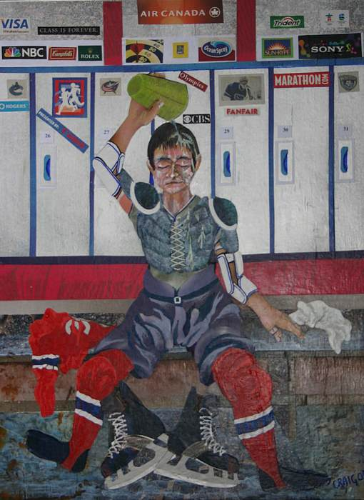 Hockey Portrait Mixed Media - After The Game by Bob Craig