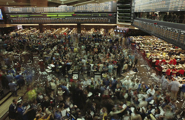 North America Photograph - An Elevated View Of Traders by Michael S. Lewis