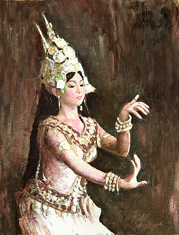 Apsara-i Painting by Vongduane Manivong