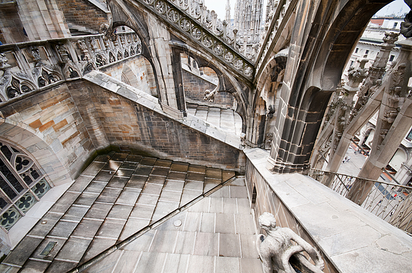 Architecture Of The Milan Cathedral Pyrography