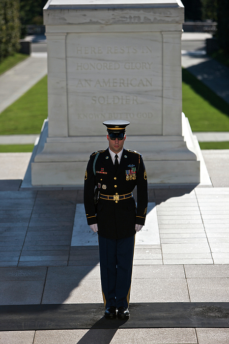 Vertical Photograph - Changing Of Guard At Arlington National by Terry Moore