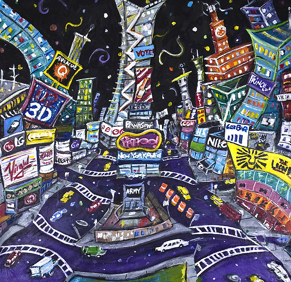 New York City Painting - City Of Lights by Jason Gluskin