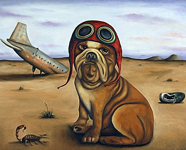 Dog Painting - Crash by Leah Saulnier The Painting Maniac