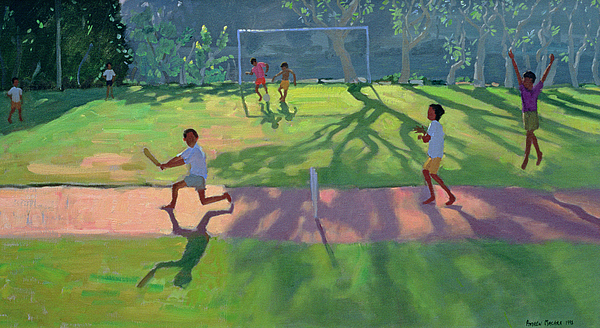 Game Painting - Cricket Sri Lanka by Andrew Macara