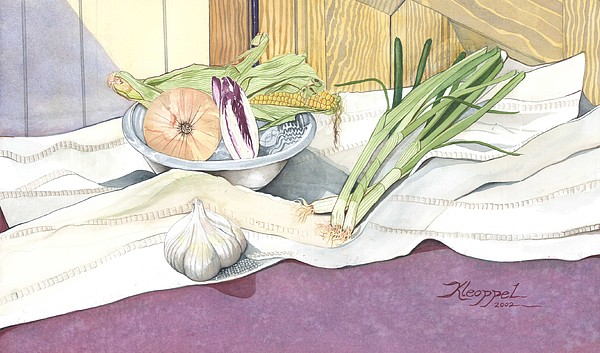 Still Life Painting - Eat What Is Good by Christine Belt