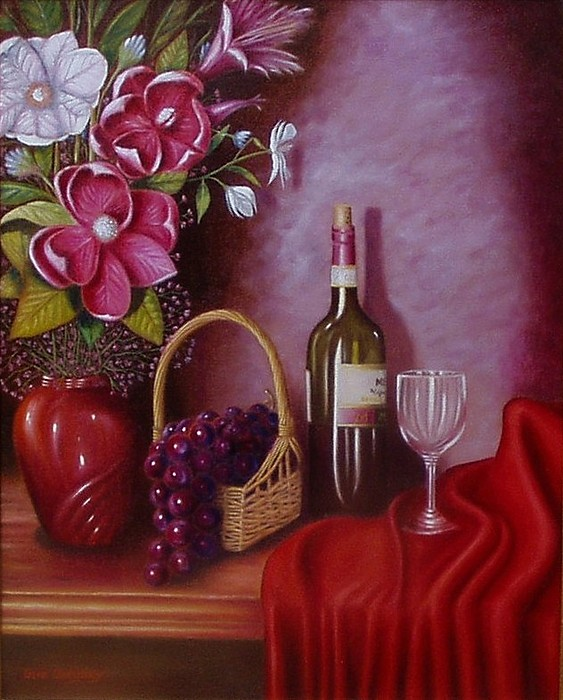 Still Life Painting - Fruit Of The Vine by Gene Gregory
