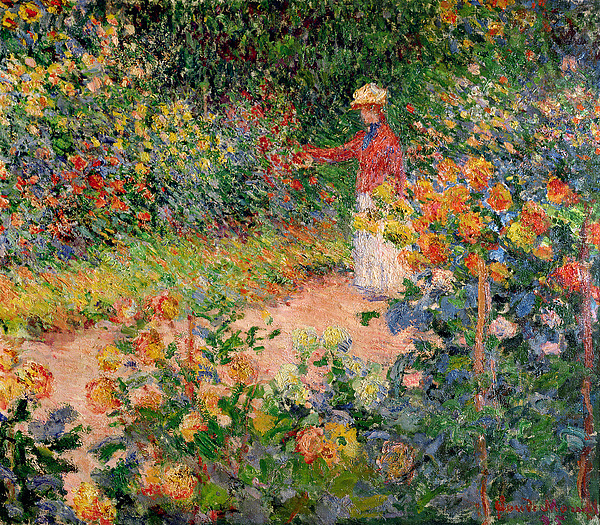 Garden At Giverny Painting