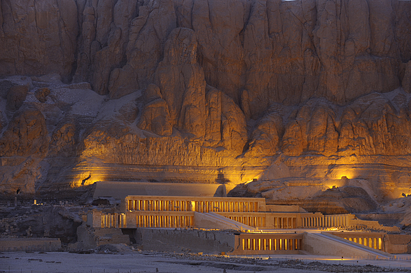 Outdoors Photograph - Hatshepsuts Mortuary Temple Rises by Kenneth Garrett