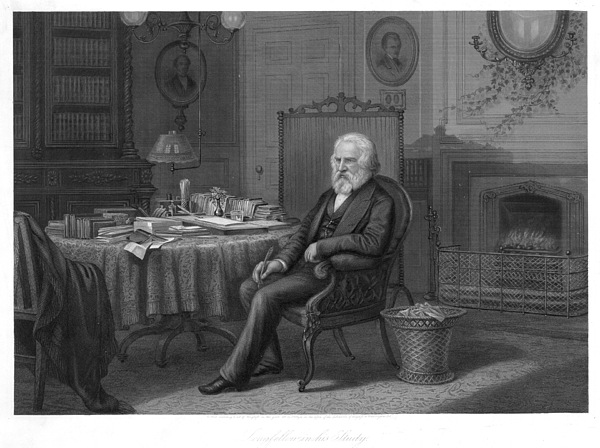 19th Century Photograph - Henry Wadsworth Longfellow by Granger
