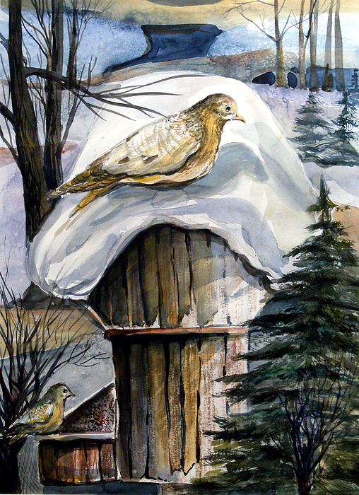 His Eye Is On The Sparrow Painting