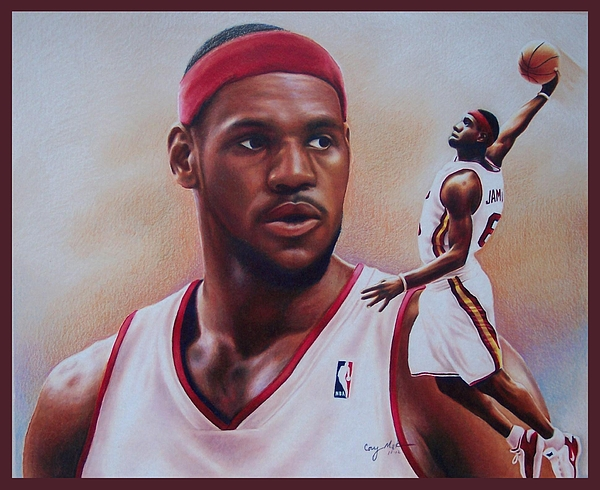 Lebron Drawing - Lebron James by Cory McKee