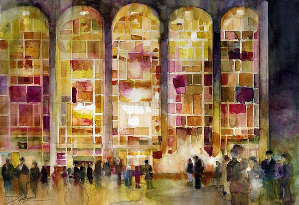 Lincoln Center Painting - Lincoln Center by Dorrie Rifkin