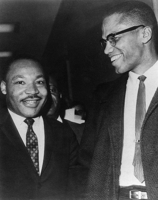 1960s Photograph - Martin Luther King Jr., And Malcolm X by Everett