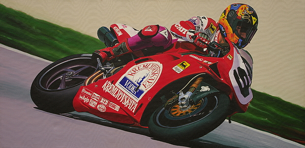Ducati Painting - Neil Hodgson - Ducati World Superbike by Jeff Taylor