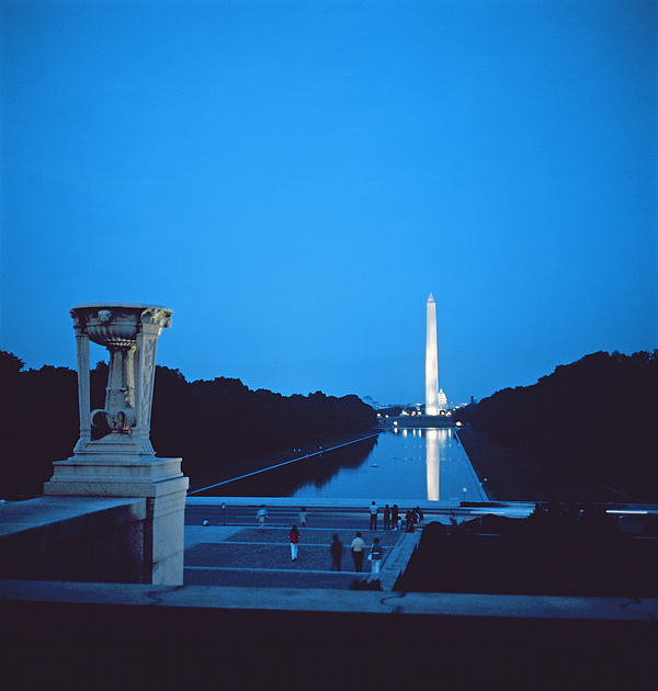 Night View Of The Washington Monument Across The National Mall (photo)washington Photograph - Night View Of The Washington Monument Across The National Mall by American School
