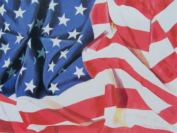 Flag Mixed Media - Old Glory by Constance Drescher