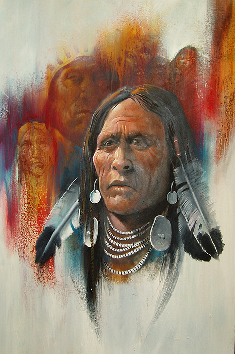 Oil Painting - Plainsman by Robert Carver