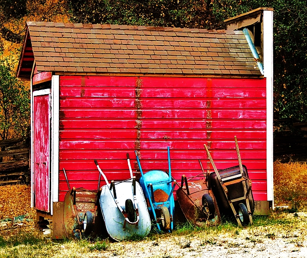 Vintage Tool Shed Photograph - Retired by Helen Carson