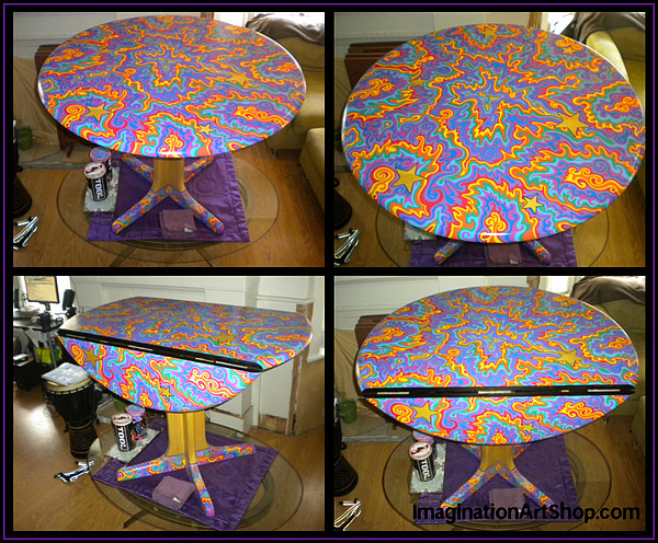 Sharpie Star Table Painting