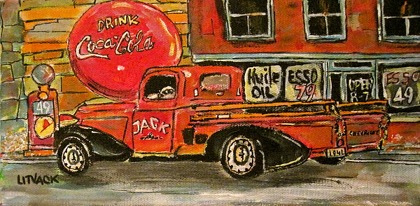 1941 Chevrolet Pickup Painting - Small Town Worker by Michael Litvack