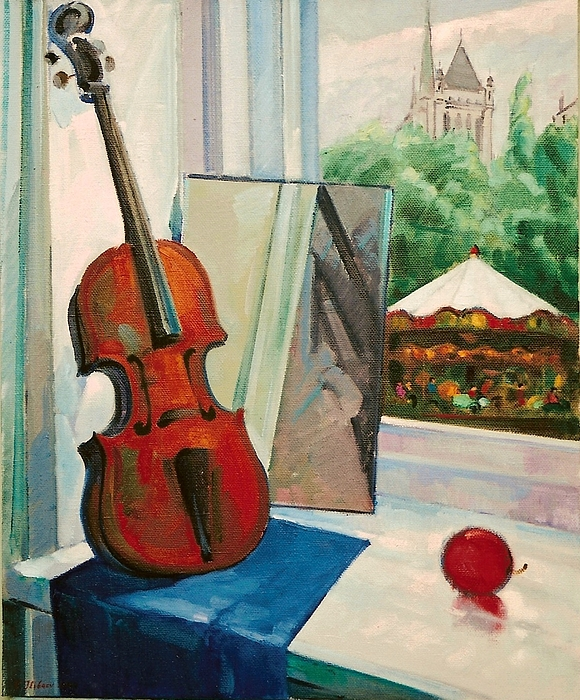 Vladimir Ilibaev - Still life with violin.Geneve.