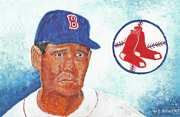 Ted Painting - Ted Williams by William Bowers