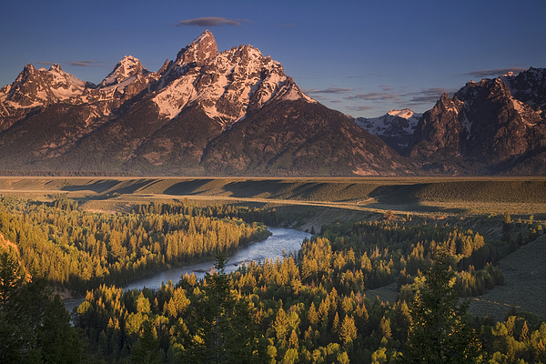 Teton Morning Print by Andrew Soundarajan