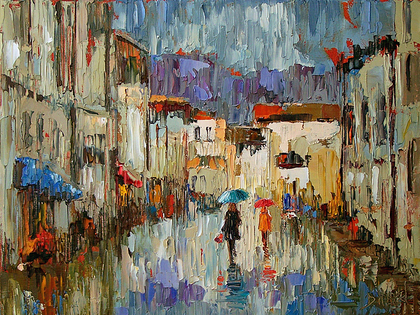 Impressionist Painting - Tourists by Debra Hurd