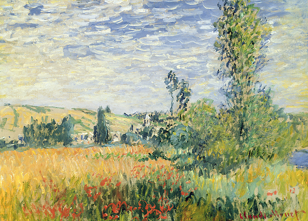 French Painting - Vetheuil by Claude Monet