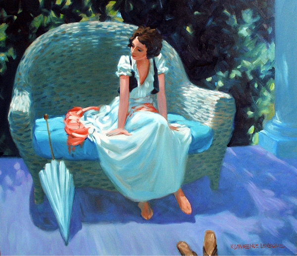 Girl Painting - Waiting For The Artist by Kevin Lawrence Leveque