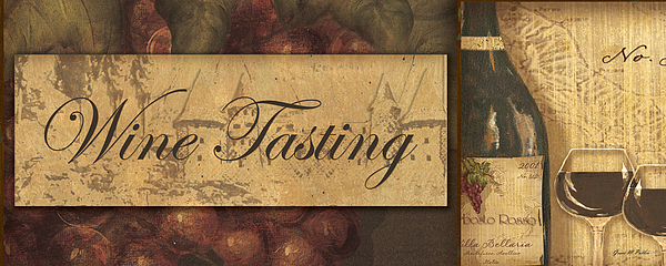 Wine Painting - Wine Tasting Collage  by Grace Pullen