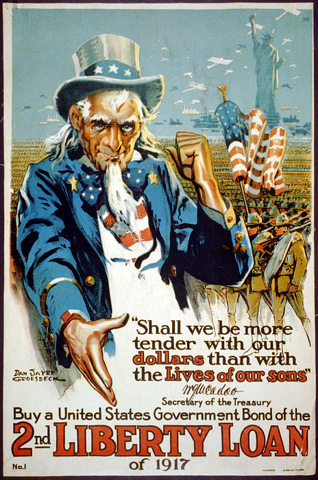 1910s Photograph - World War I, Poster Showing Uncle Sam by Everett