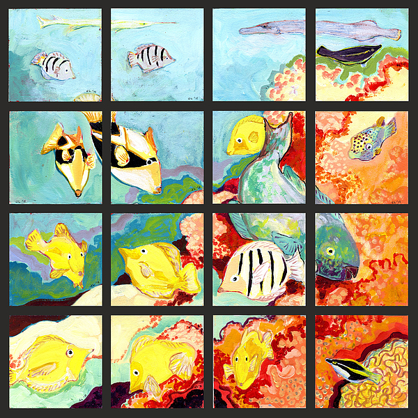 17 Fish Print by Jennifer Lommers