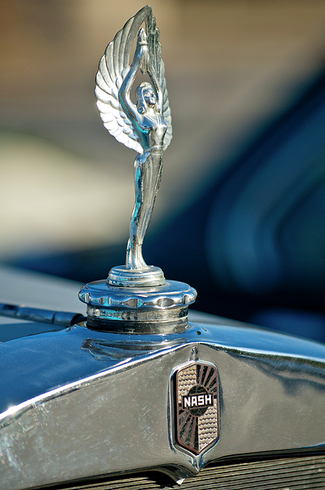 1928 Nash Coupe Photograph - 1928 Nash Coupe Hood Ornament by Jill Reger
