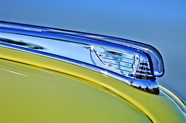 1947 Ford Super Deluxe Photograph - 1947 Ford Super Deluxe Hood Ornament 2 by Jill Reger