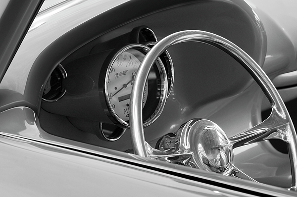 1956 Chrysler Hot Rod Steering Wheel Photograph