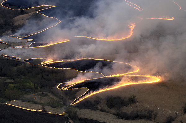 Outdoors Photograph - Carefully Managed Fires Sweep by Jim Richardson