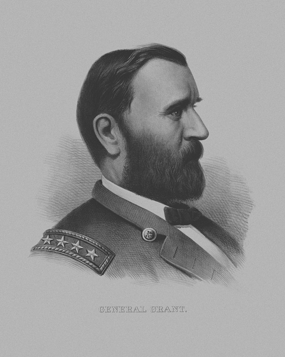 General Grant Drawing - General Grant by War Is Hell Store