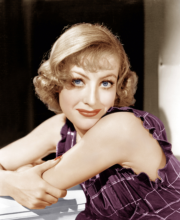 1930s Hairstyles Photograph - Joan Crawford, Ca. 1930s by Everett