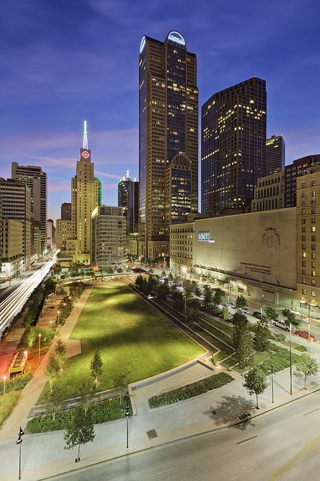 Architecture Photograph - Main Street Garden Park In Downtown Dallas by Jeremy Woodhouse