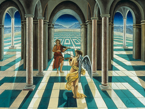 Angelic Painting - Musicians In The Temple by Gloria Cigolini-DePietro