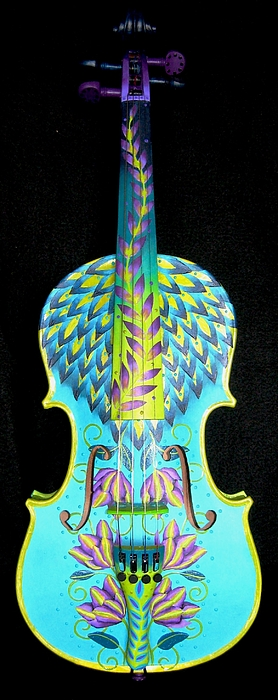 Painted Violin Painting