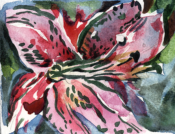 Pink Painting - Pink Day Lily by Mindy Newman