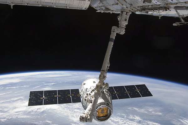 The Spacex Dragon Cargo Craft Photograph