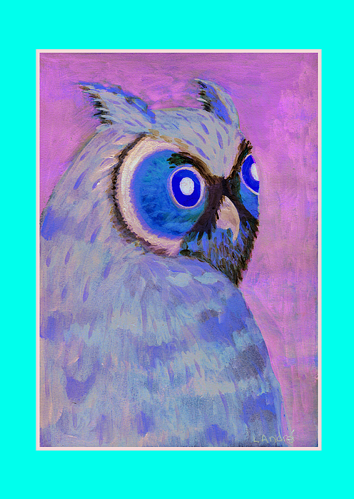 Owl Painting - 2009 Owl Negative by Lilibeth Andre