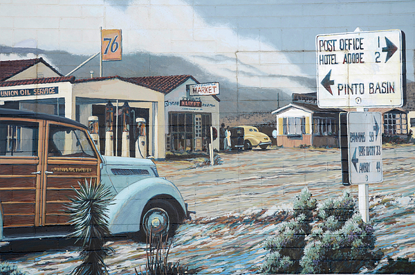 29 Palms Flood Mural Print by Bob Christopher