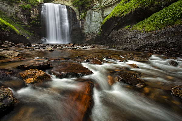 Waterfall Photograph - Looking Glass Falls by Andrew Soundarajan